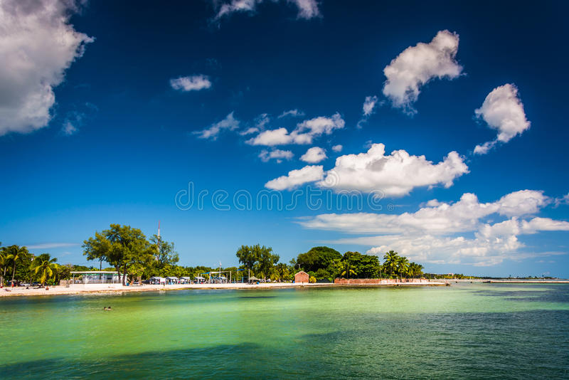 View of the beach in Key West, Florida. stock photography
