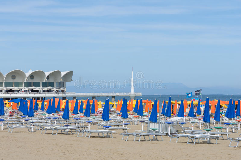 View Of The Beach Of Lignano Sabbiadoro - Italy 9th June 2017 ...