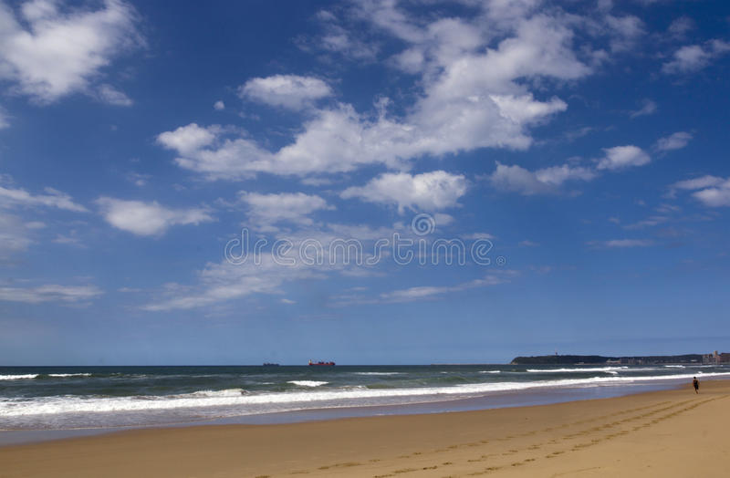 Download View Of Beach Ocean And Bluff In Durban South Africa Stock Photo - Image of background, steps: 39507524