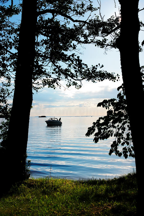 Download View Of The Beach Through The Trees Stock Photo - Image: 9997742