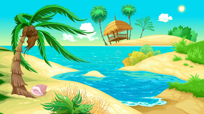 View on the beach royalty free stock images