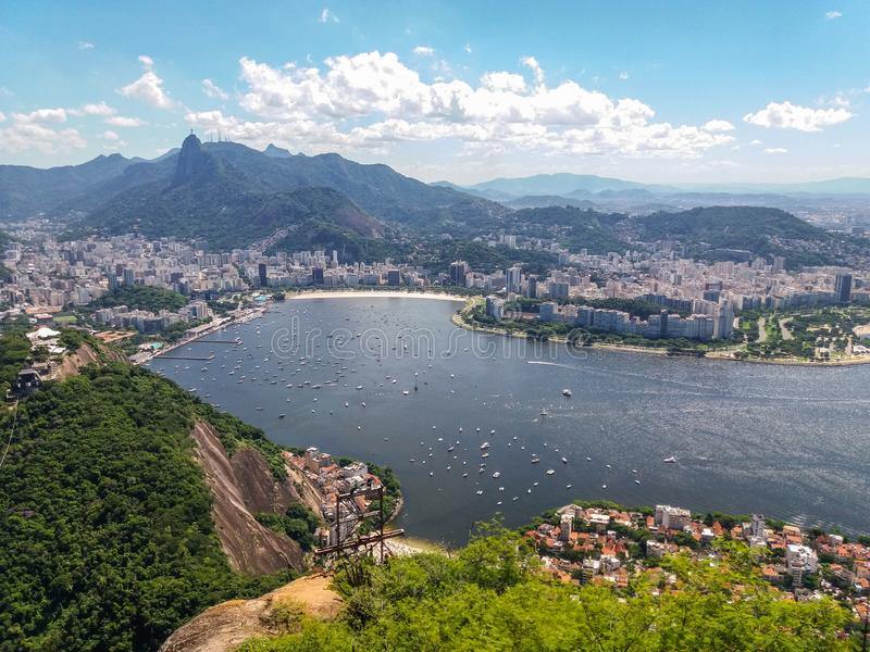 Beaches mountains and city of Rio de Janeiro in Brazil stock photography