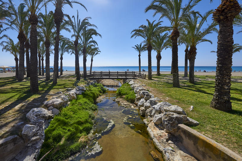 View of the beaches, Torremolinos, Costa Del Sol royalty free stock image