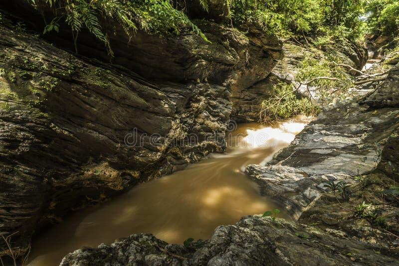 View of a beautiful autumn creek in Wangsirareng Nan Thailand royalty free stock photos