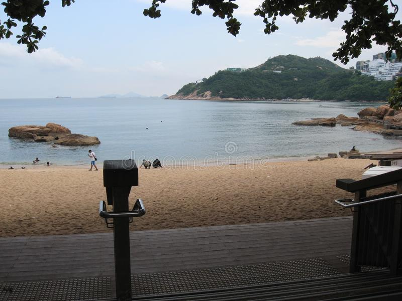 View of the beautiful beach at Stanley bay, Stanley, Hong Kong royalty free stock photography