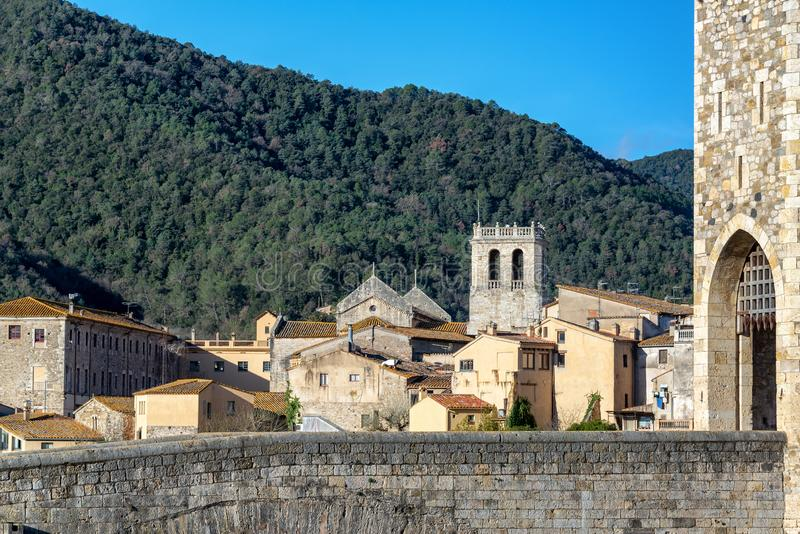 View of Beautiful Besalu, Spain royalty free stock images