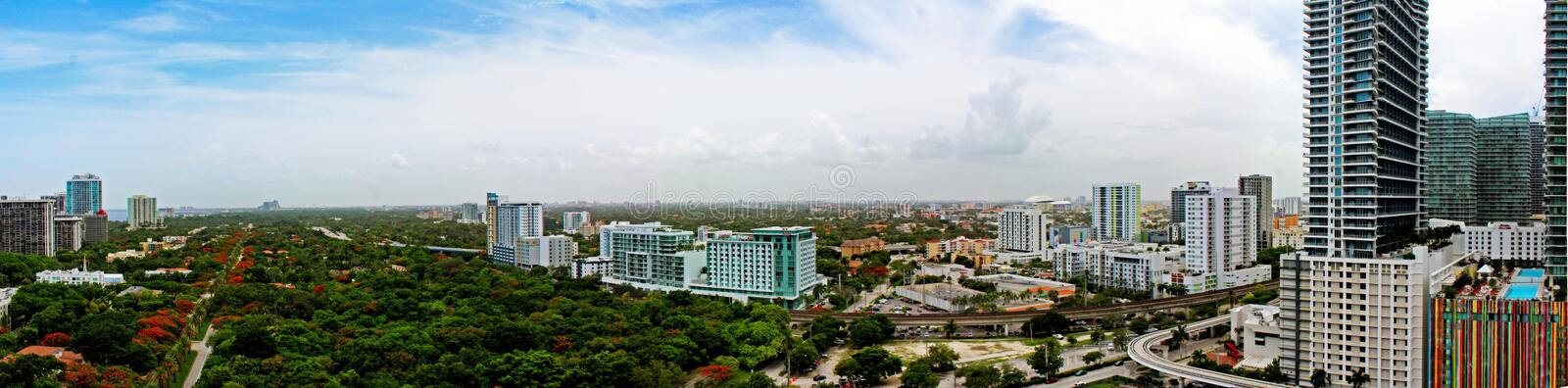 Beautiful Brickell Miami, Florida royalty free stock images