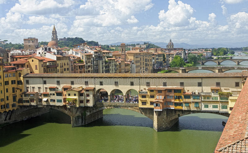 VIew of beautiful bridge Ponte Vecchio - Florence. Italy royalty free stock images