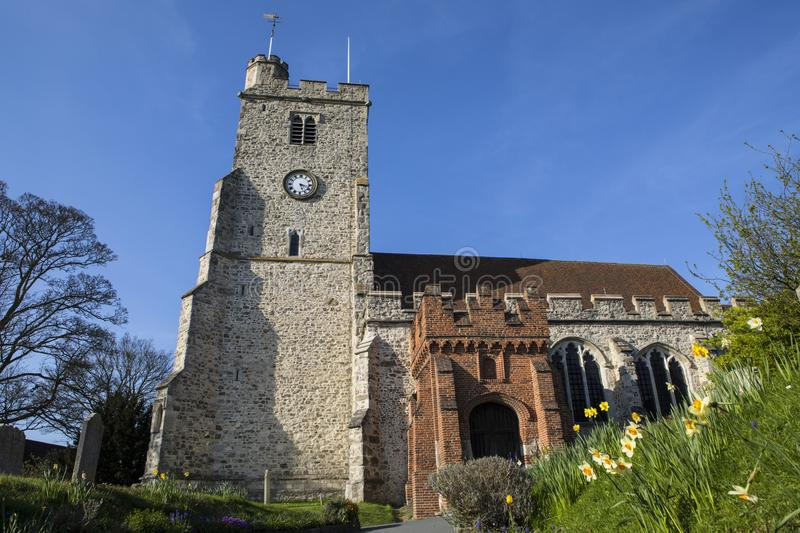 Holy Trinity Church in Rayleigh. A view of the beautiful Holy Trinity church in the market town of Rayleigh in Essex, UK stock image