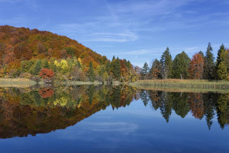 View of beautiful lake in Plitvice National Park stock photo