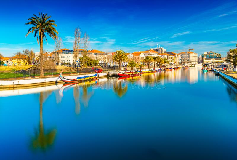View of a beautiful Portuguese town of Aveiro, Portugal royalty free stock photos