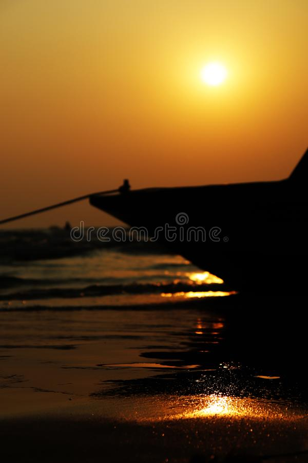 A sunset from Baga Beach royalty free stock images