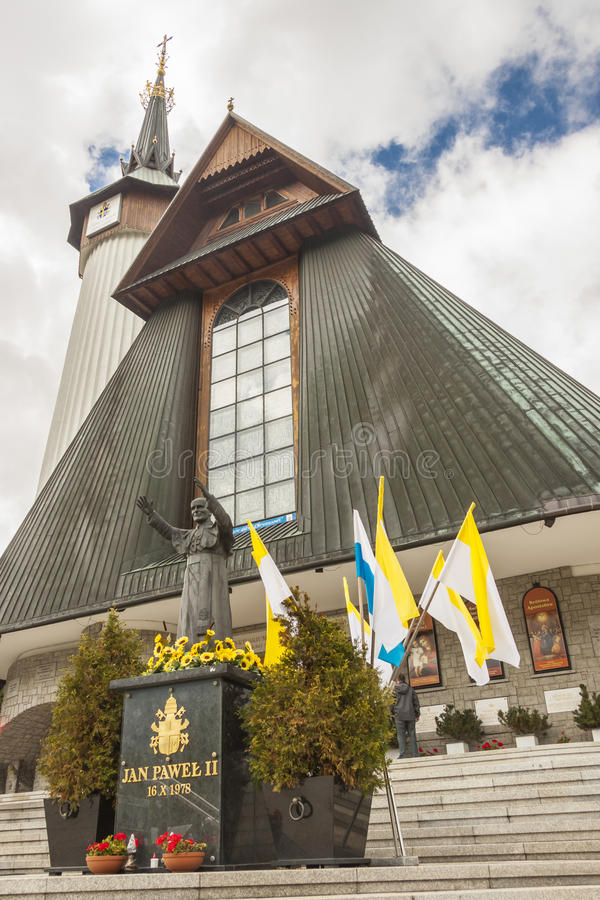 Facade of Krzeptowki Sanctuary - Poland.