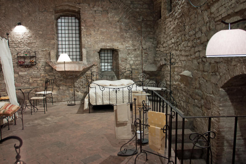 Download View Of A Bedroom Medieval, Perugia Stock Photo   Image Of  Aristocratic, Castle