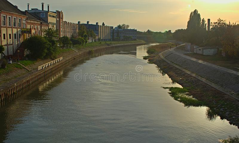 View on Begej river in Zrenjanin, Serbia.  stock photography