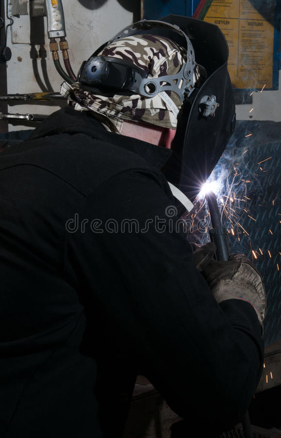 The View From Behind The Welder Stock Photos