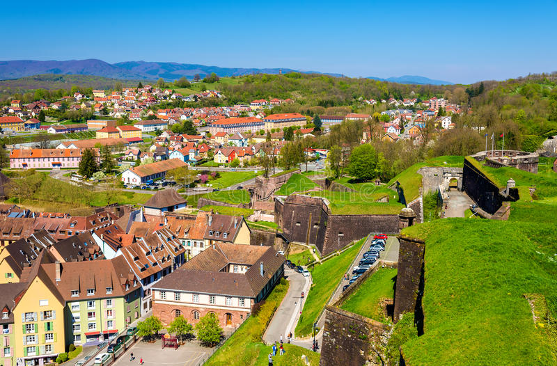 View of Belfort from the fortress. France royalty free stock photos