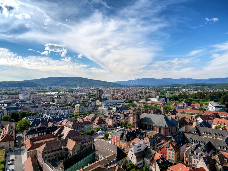 View of Belfort town in France. A view of Belfort town in France royalty free stock photo