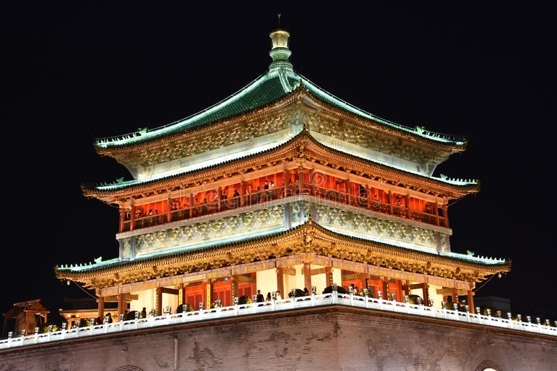 The Bell Tower of Xian, China. View of the Bell Tower of Xian, China, Asia stock images