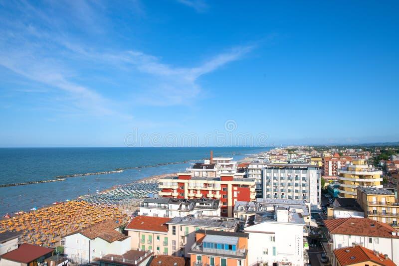 View of Bellaria - Igea marina. On the Adriatic coast.  stock photo