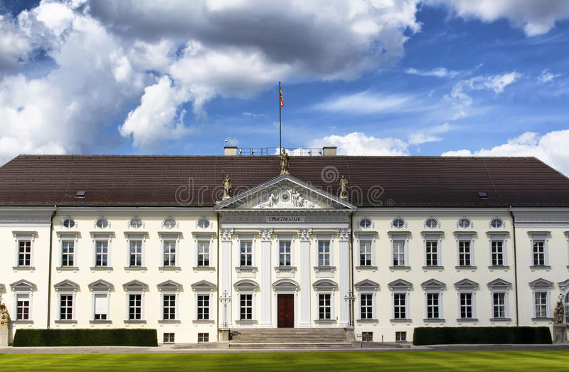 View of Bellevue Palace in Berlin. royalty free stock images