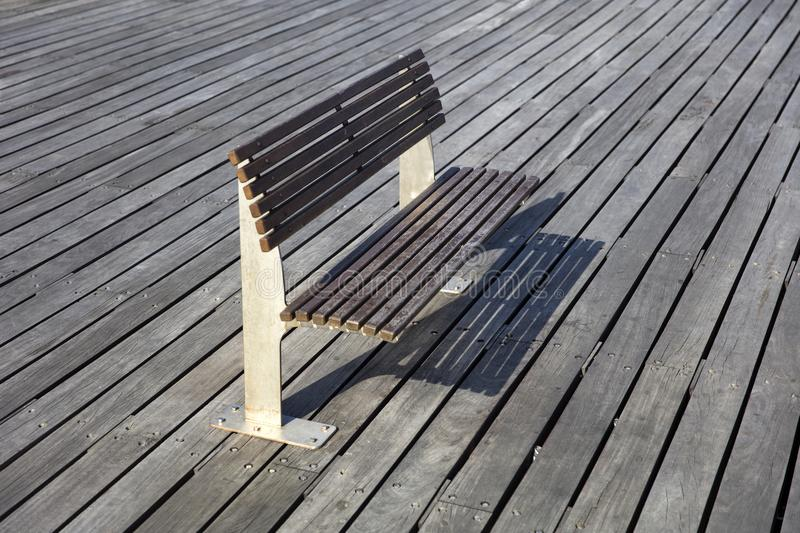 View at bench on the boardwalk royalty free stock photography