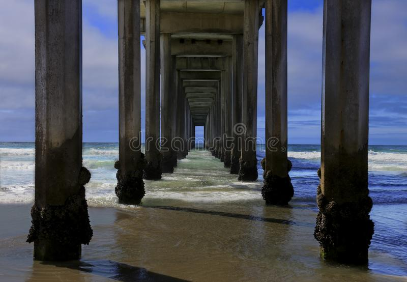 The View From Beneath Scripps Pier stock images