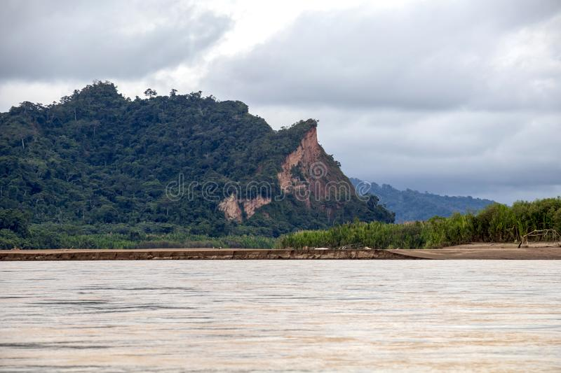View of Beni river and rainforest of Madidi national park in the upper Amazon river basin in Bolivia, South America stock image