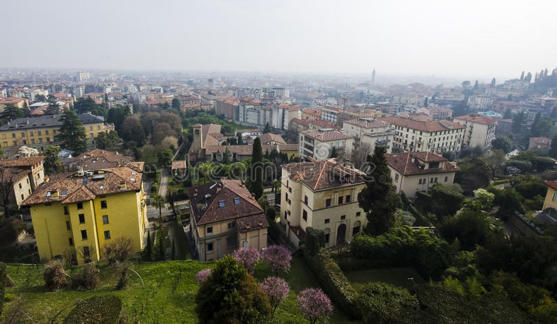 Download Bergamo town stock image. Image of architecture, residential - 29707477