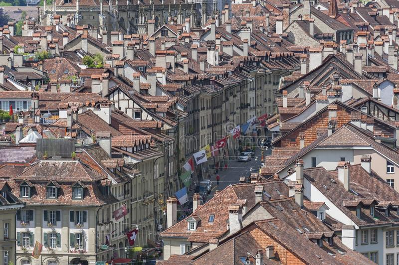 Old building in Berne, Switzerland. View of Bern or Berne, the capital city of Switzerland stock photography
