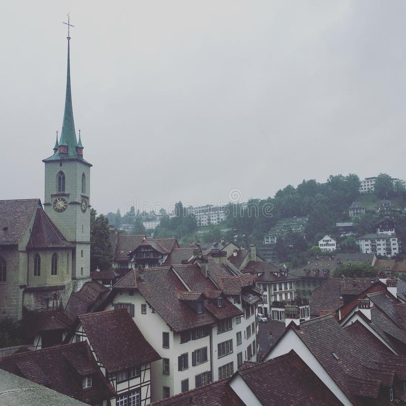 View of Bern from Bridge royalty free stock photo