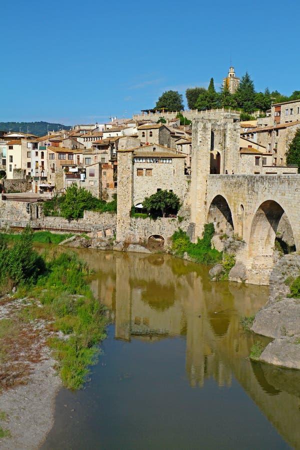 View of Besalu village Catalonia, Spain stock photos