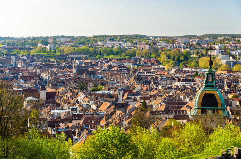 View of Besancon city - France. Doubs stock photos