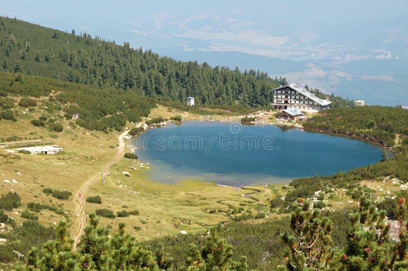View of Bezbog Lake in Pirin mountains,Bulgaria stock image