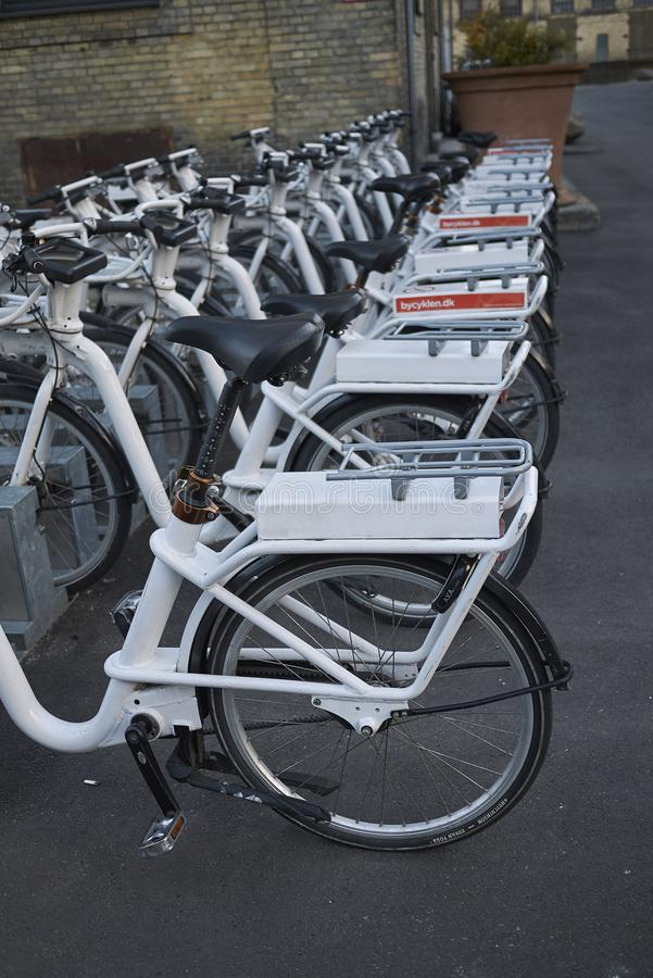 View of a bicycle parking royalty free stock photo