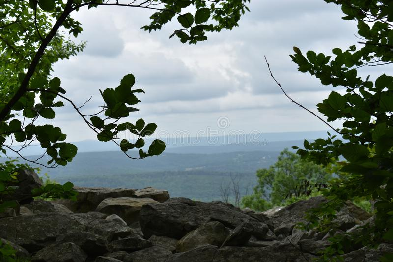 View from Big Pocono Park in the Pocono Mountains. Of Pennsylvania stock photography