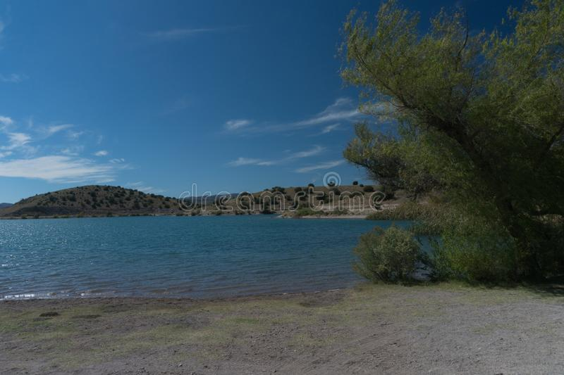 View of Bill Evans Lake near Silver City in New Mexico. royalty free stock photo