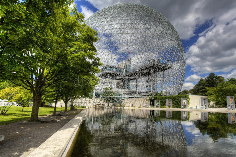 A view of the Biosphere in Montreal royalty free stock photography