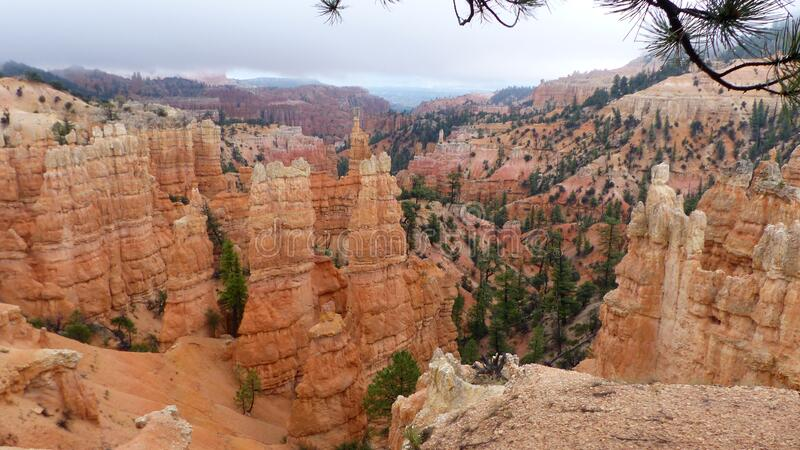 Erosion forms in Bryce Canyon National Park royalty free stock photography