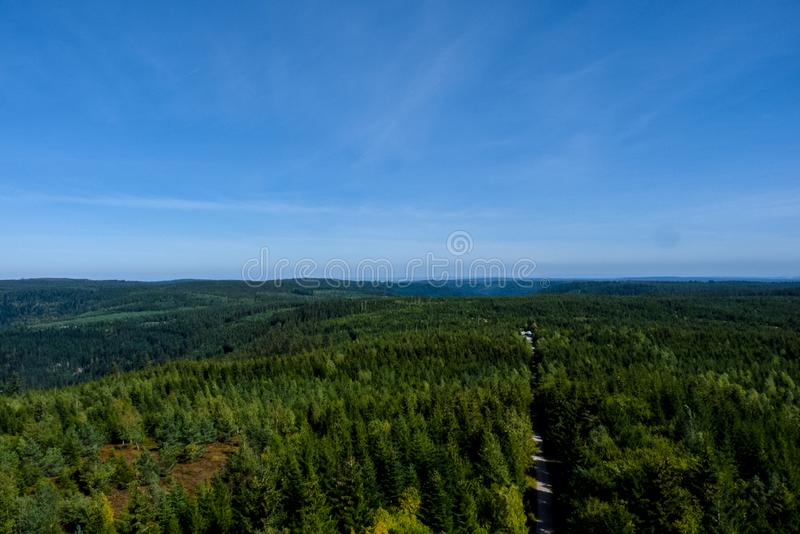 Black Forest from the Tower. A view of the Black Forest Germany from the tower stock photos