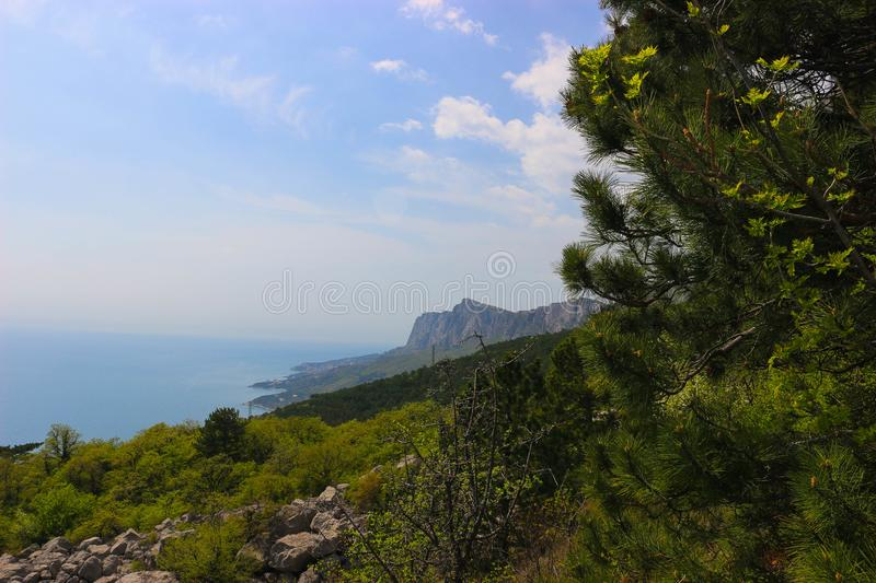 The view of the Black sea royalty free stock photo