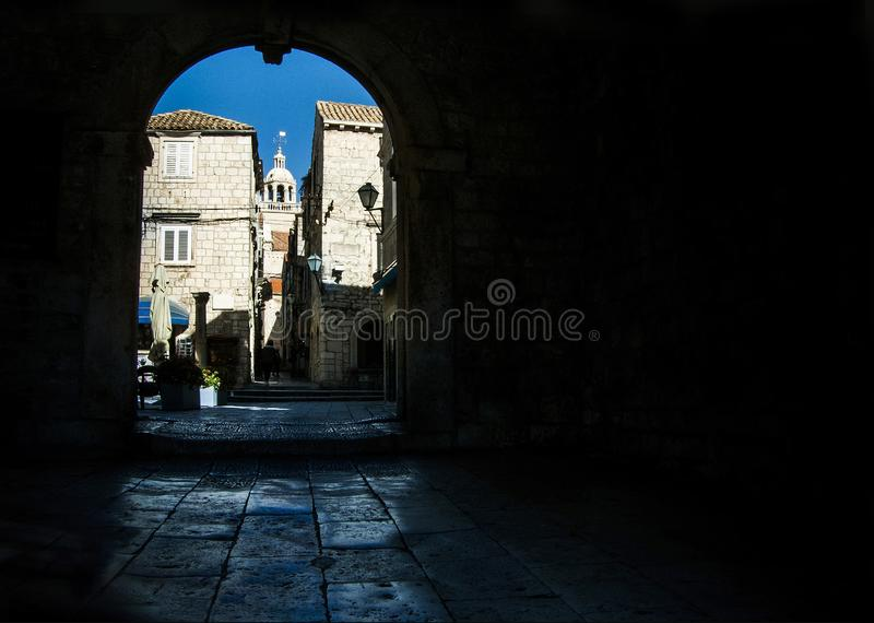 View at Korcula town  in Croatia royalty free stock image
