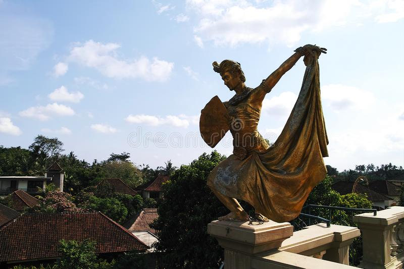 View from Blanco Renaissance Museum. Indonesia, Bali, Ubud - Sep, 2014 : View from Blanco Renaissance Museum stock images