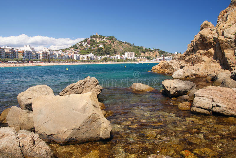 View in Blanes royalty free stock images
