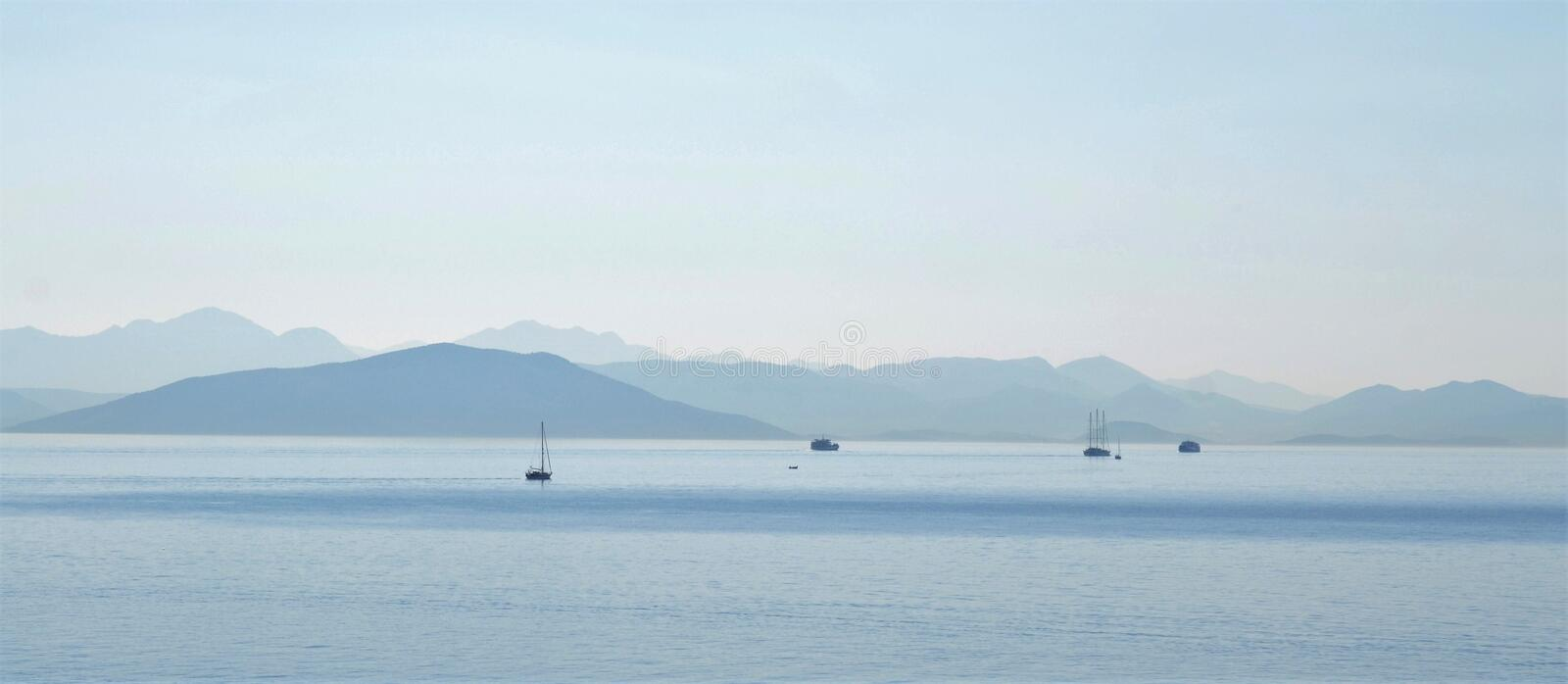 The view into the blue stock photography