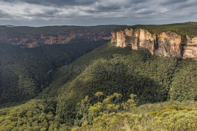 View of the Blue Mountains National Park NSW, Australia. stock images