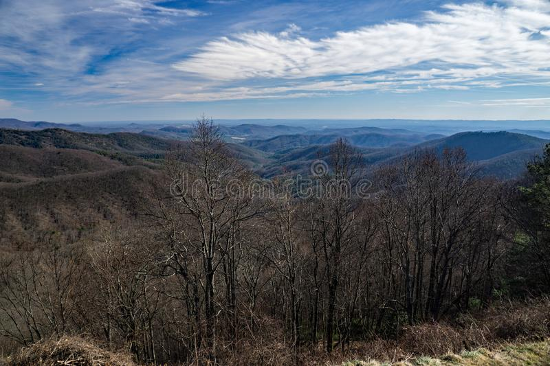 View of the Blue Ridge Mountains - 3 royalty free stock photography