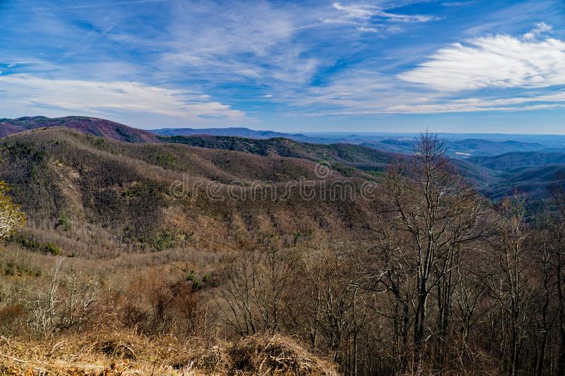 View of the Blue Ridge Mountains stock photography