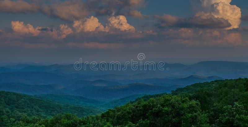 View from Blue Ridge Parkway Linn Cove Viaduct stock images