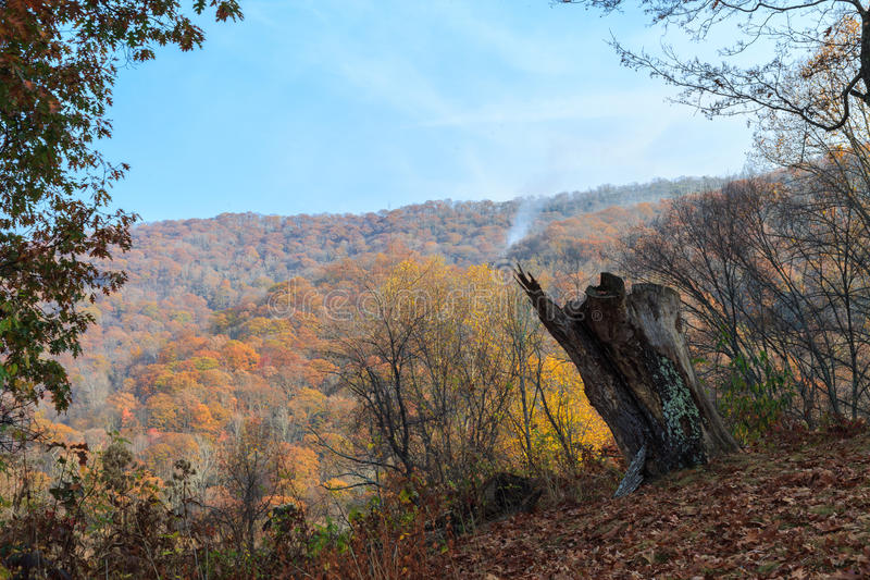 View from blue ridge parkway. royalty free stock photo